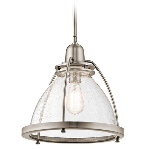 Kichler Lighting Kichler Lighting Silberne Classic Pewter Pendant Light with Bowl / Dome Shade 43737CLP