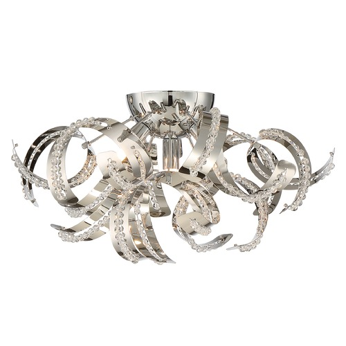 Quoizel Lighting Quoizel Ribbons Crystal Chrome Flushmount Light RBN1616CRC