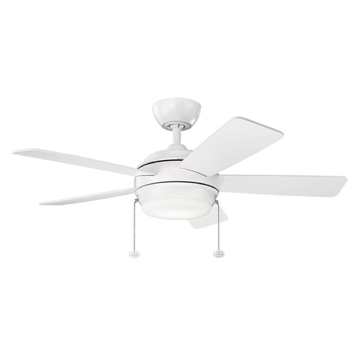 Kichler Lighting Kichler Lighting Starkk Matte White LED Ceiling Fan with Light 330171MWH