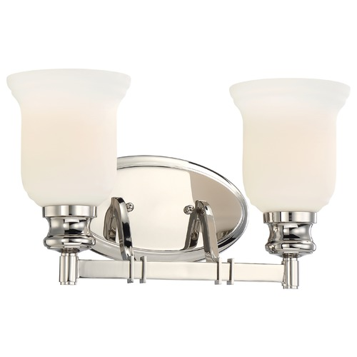 Minka Lavery Minka Audrey's Point Polished Nickel Bathroom Light 3292-613