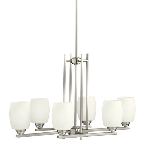 Kichler Lighting Kichler Chandelier Light in Brushed Nickel Finish 3898NI