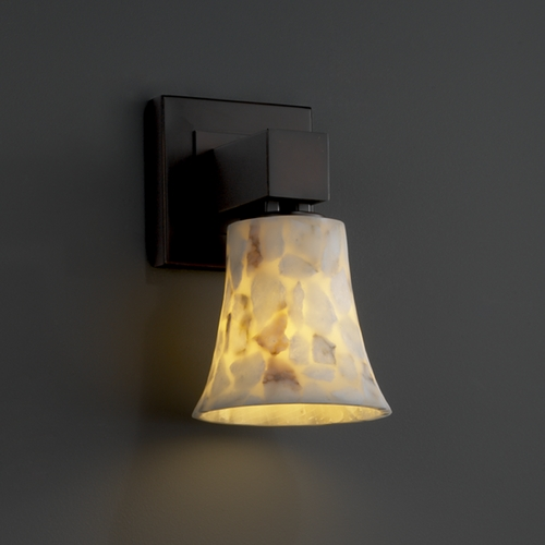 Justice Design Group Justice Design Group Alabaster Rocks! Collection Sconce ALR-8705-20-DBRZ