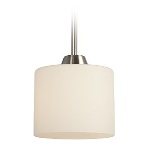 Galaxy Excel Lighting Modern Mini-Pendant Light with White Glass 913164-BN