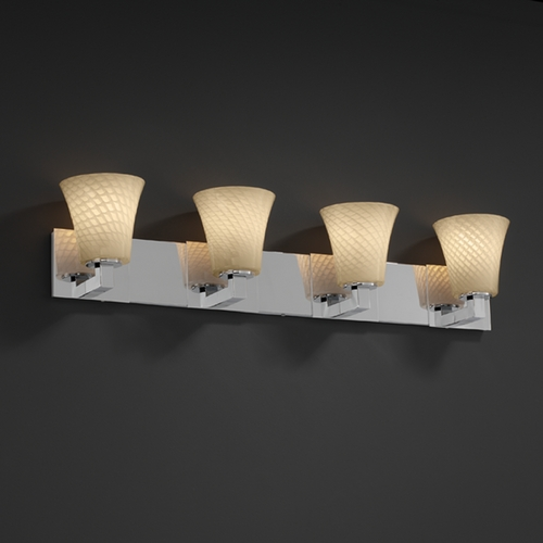Justice Design Group Justice Design Group Fusion Collection Bathroom Light FSN-8924-20-WEVE-CROM
