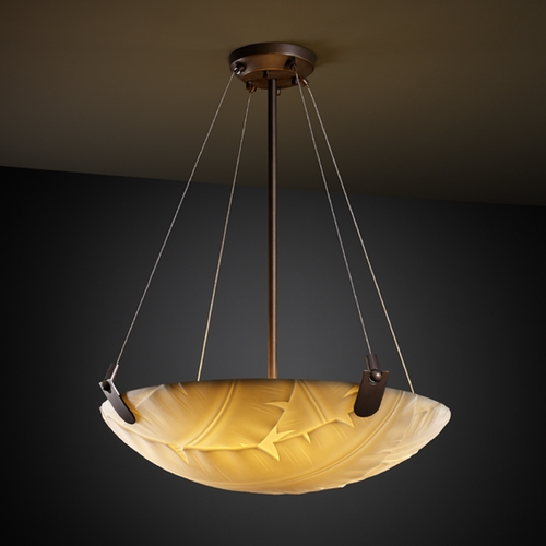 Justice Design Group Justice Design Group Porcelina Collection Pendant Light PNA-9621-35-BANL-DBRZ