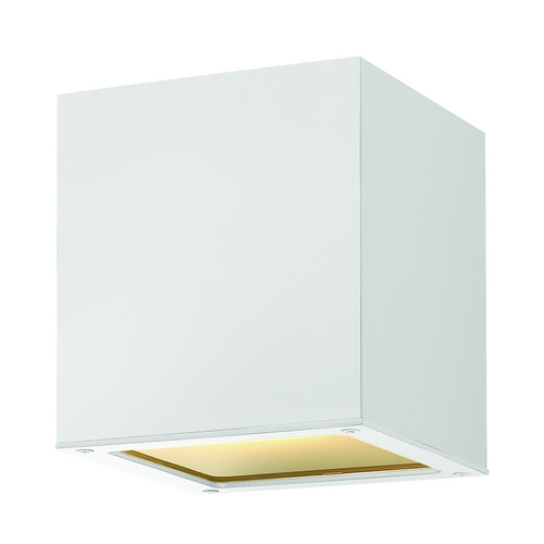 Hinkley Lighting Modern Close To Ceiling Light with Etched in Satin White Finish 1763SW