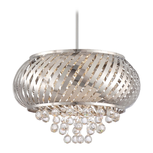 George Kovacs Lighting Modern LED Pendant Light in Chrome Finish P1314-077-L
