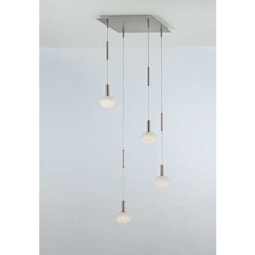 Holtkoetter Lighting Holtkoetter Lighting Lichtstar System Brushed Brass LED Multi-Light Pendant C8410 R9733 G5036 PBBB
