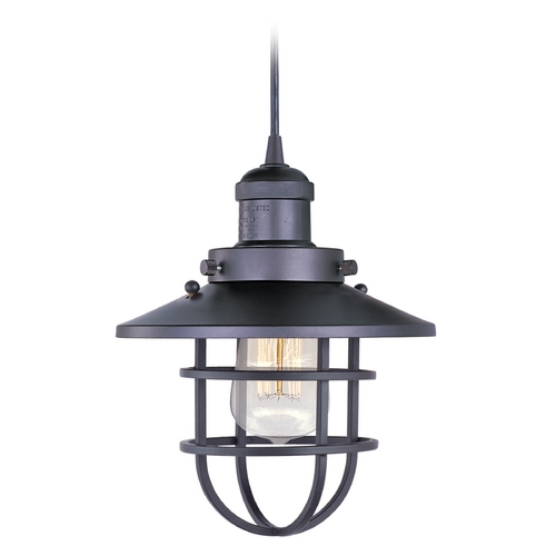 Maxim Lighting Maxim Lighting Mini Hi-Bay Bronze Mini-Pendant Light with Coolie Shade 25030BZ/BUI