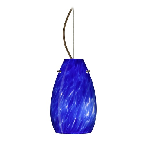 Besa Lighting Besa Lighting Pera Bronze LED Mini-Pendant Light with Oblong Shade 1KX-412686-LED-BR