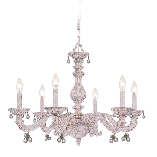 Crystorama Lighting Crystorama Lighting Paris Market Antique White Crystal Chandelier 5226-AW-CLEAR