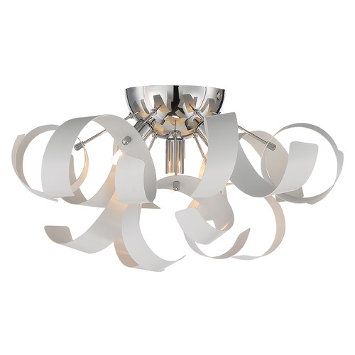 Quoizel Lighting Quoizel Ribbons White Lustre Flushmount Light RBN1616W