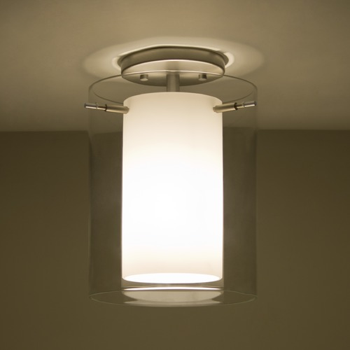 Besa Lighting Besa Lighting Pahu Satin Nickel Semi-Flushmount Light 1KM-C00607-SN