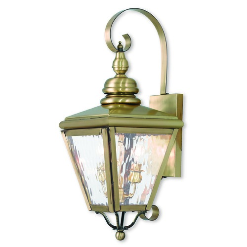 Livex Lighting Livex Lighting Cambridge Antique Brass Outdoor Wall Light 2031-01