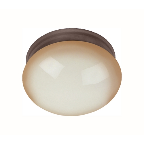 Maxim Lighting Flushmount Light with Beige / Cream in Oil Rubbed Bronze Finish 5887WSOI