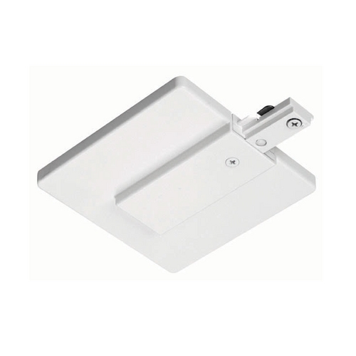 Juno Lighting Group Juno Trac-Lites White End Feed Connector and Outlet Box Cover R21 WH