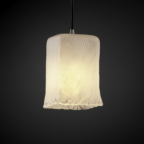 Justice Design Group Justice Design Group Veneto Luce Collection Mini-Pendant Light GLA-8816-26-WHTW-NCKL