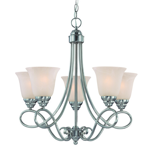Craftmade Lighting Craftmade Cordova Satin Nickel Chandelier 25025-SN