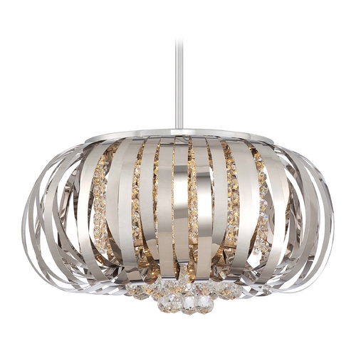 George Kovacs Lighting Modern LED Pendant Light in Chrome Finish P1313-077-L