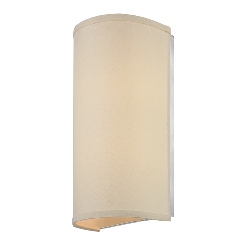 Dolan Designs Lighting Sconce Light with Beige Fabric Shade 283-09