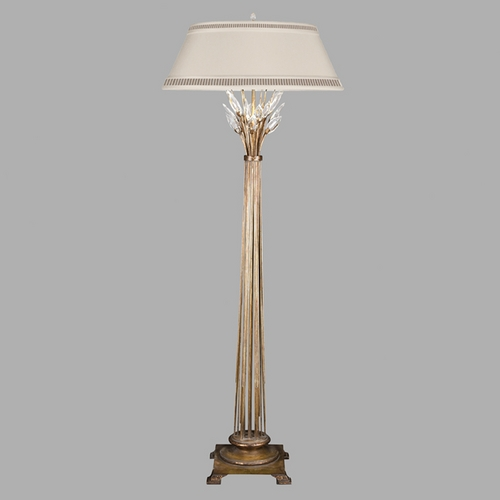 Fine Art Lamps Fine Art Lamps Crystal Laurel Gold Leaf Floor Lamp with Empire Shade 772520ST