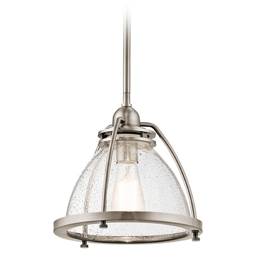 Kichler Lighting Kichler Lighting Silberne Classic Pewter Pendant Light with Bowl / Dome Shade 43738CLP