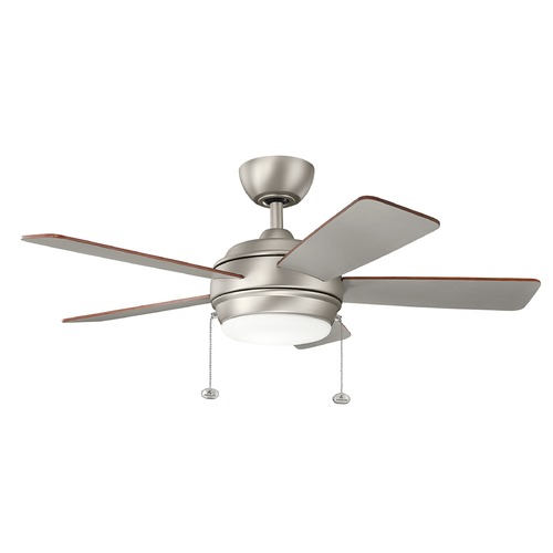 Kichler Lighting Kichler Lighting Starkk Brushed Nickel LED Ceiling Fan with Light 330171NI
