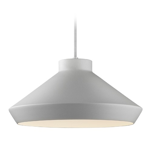 Sonneman Lighting Sonneman Koma Bright Satin Aluminum Pendant Light with Coolie Shade 2752.16-E