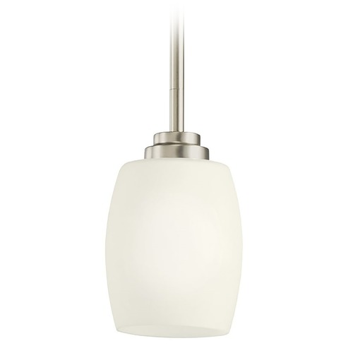 Kichler Lighting Kichler Modern Mini-Pendant Light with White Glass 3497NI