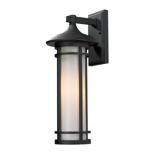 Z-Lite Z-Lite Woodland Black Outdoor Wall Light 529M-BK