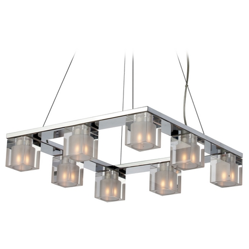 ET2 Lighting Modern Multi-Light Pendant Light with Clear Glass and 8-Lights E22037-18