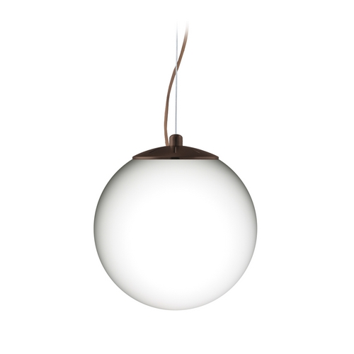 Besa Lighting Modern Pendant Light with White Glass in Bronze Finish 1KX-432807-BR