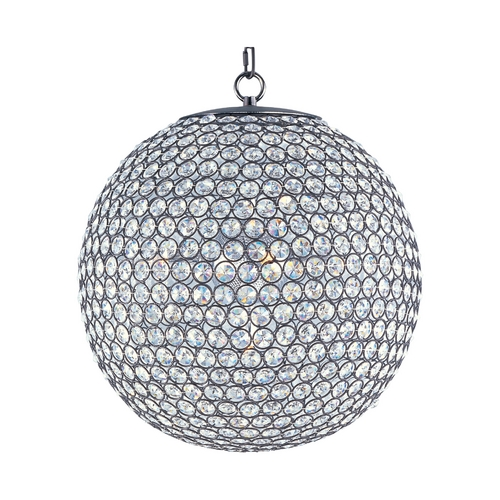 Maxim Lighting Maxim Lighting Glimmer Bronze Pendant Light with Globe Shade 39886BCBZ