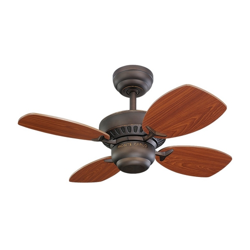 Monte Carlo Fans Ceiling Fan Without Light in Roman Bronze Finish 4CO28RB