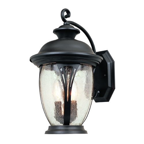Designers Fountain Lighting Seeded Glass Outdoor Wall Light Bronze Designers Fountain Lighting 30521-BZ