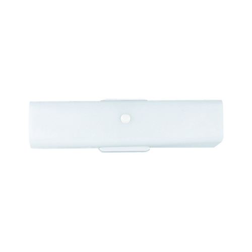 Sea Gull Lighting Bathroom Light with White Glass in White Finish 4453-15