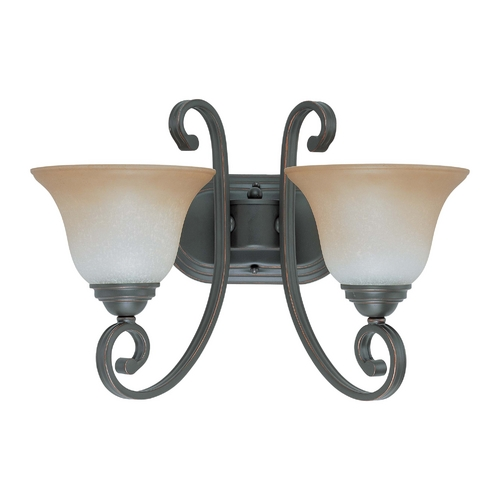 Nuvo Lighting Bathroom Light with Beige / Cream Glass in Sudbury Bronze Finish 60/2756