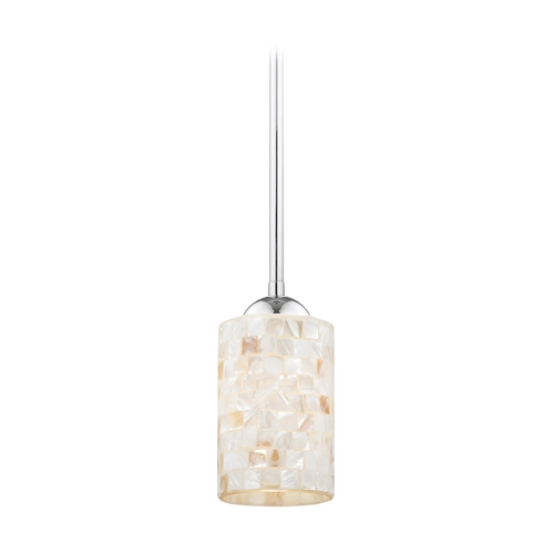 Design Classics Lighting Mini-Pendant Light with Mosaic Glass 581-26 GL1026C