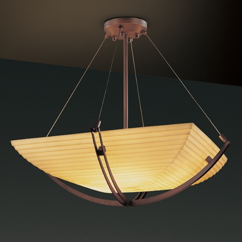 Justice Design Group Justice Design Group Porcelina Collection Pendant Light PNA-9727-25-SAWT-DBRZ