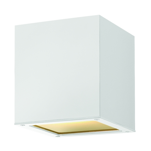 Hinkley Lighting Modern LED Close To Ceiling Light with Etched in Satin White Finish 1763SW-LED