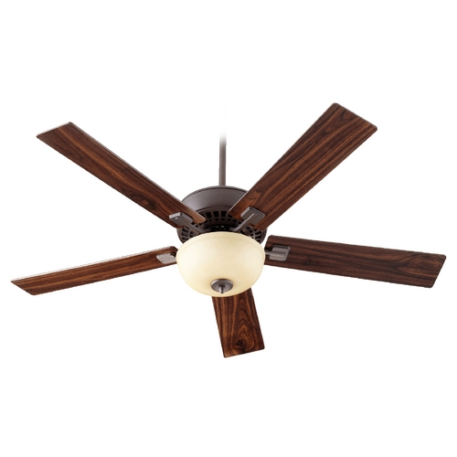 Quorum Lighting Quorum Lighting Rothman Oiled Bronze Ceiling Fan with Light 73525-986