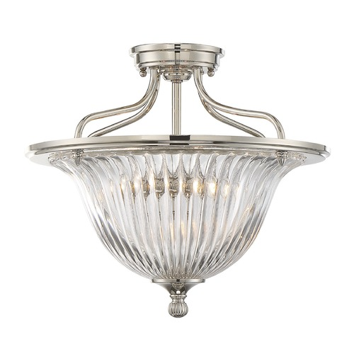 Savoy House Savoy House Lighting Aberdeen Polished Nickel Semi-Flushmount Light 6-151-3-109