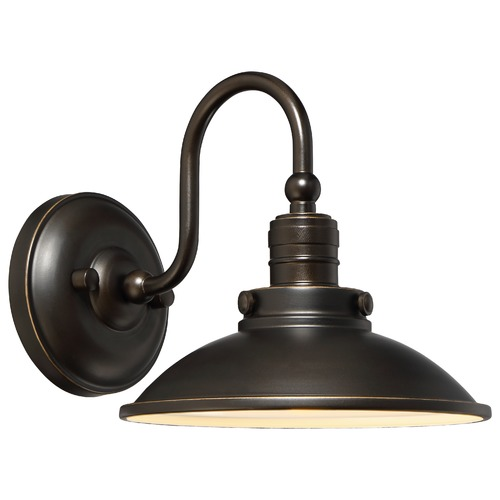 Minka Lavery Farmhouse LED Barn Light Oil Rubbed Bronze with Gold Baytree Lane by Minka Lavery 71163-143C-L