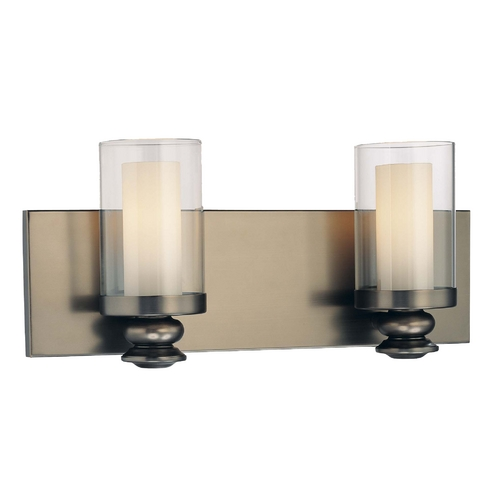 Minka Lavery Bathroom Light with Clear Glass in Harvard Ct. Bronze Finish 6362-281