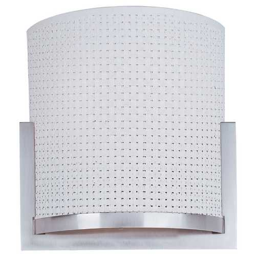 ET2 Lighting Modern Sconce Wall Light with White Shades in Satin Nickel Finish E95188-100SN