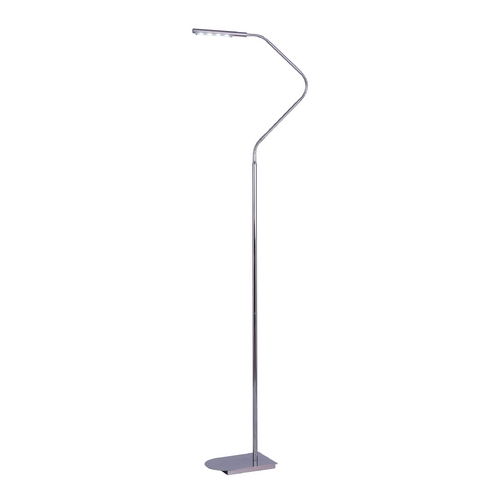 Kenroy Home Lighting Modern LED Floor Lamp in Chrome Finish 32175CH