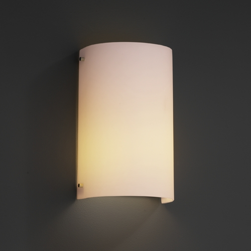 Justice Design Group Justice Design Group Fusion Collection Outdoor Wall Light FSN-5542W-OPAL-CROM