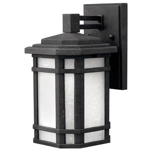 Hinkley Lighting Outdoor Wall Light with White Glass in Vintage Black Finish 1270VK