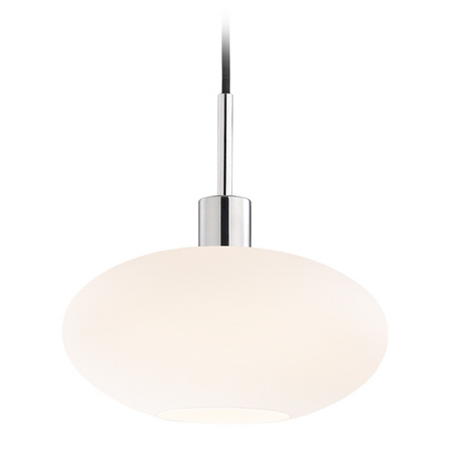 Sonneman Lighting Modern Pendant Light with White Glass in Polished Chrome Finish 3566.01K