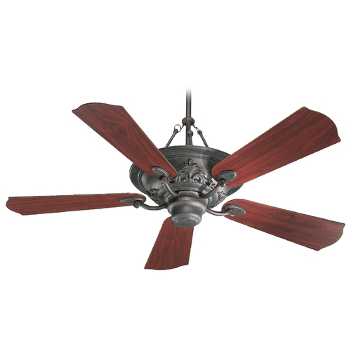 Quorum Lighting Quorum Lighting Salon Toasted Sienna Ceiling Fan with Light 83565-44
